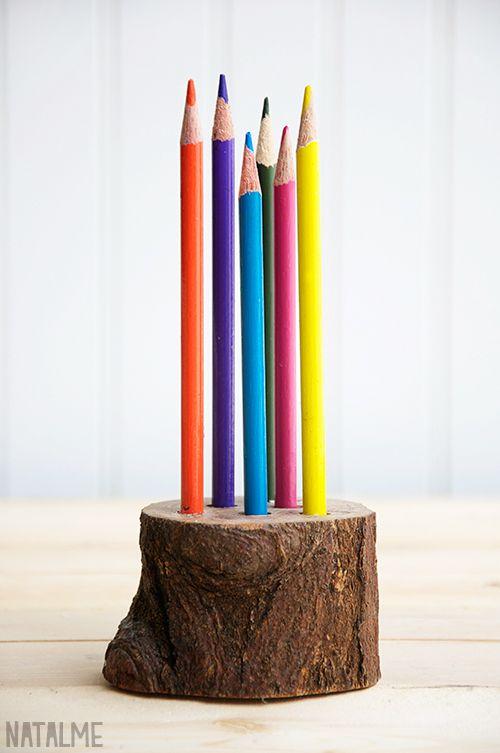 naturlig blyantholder