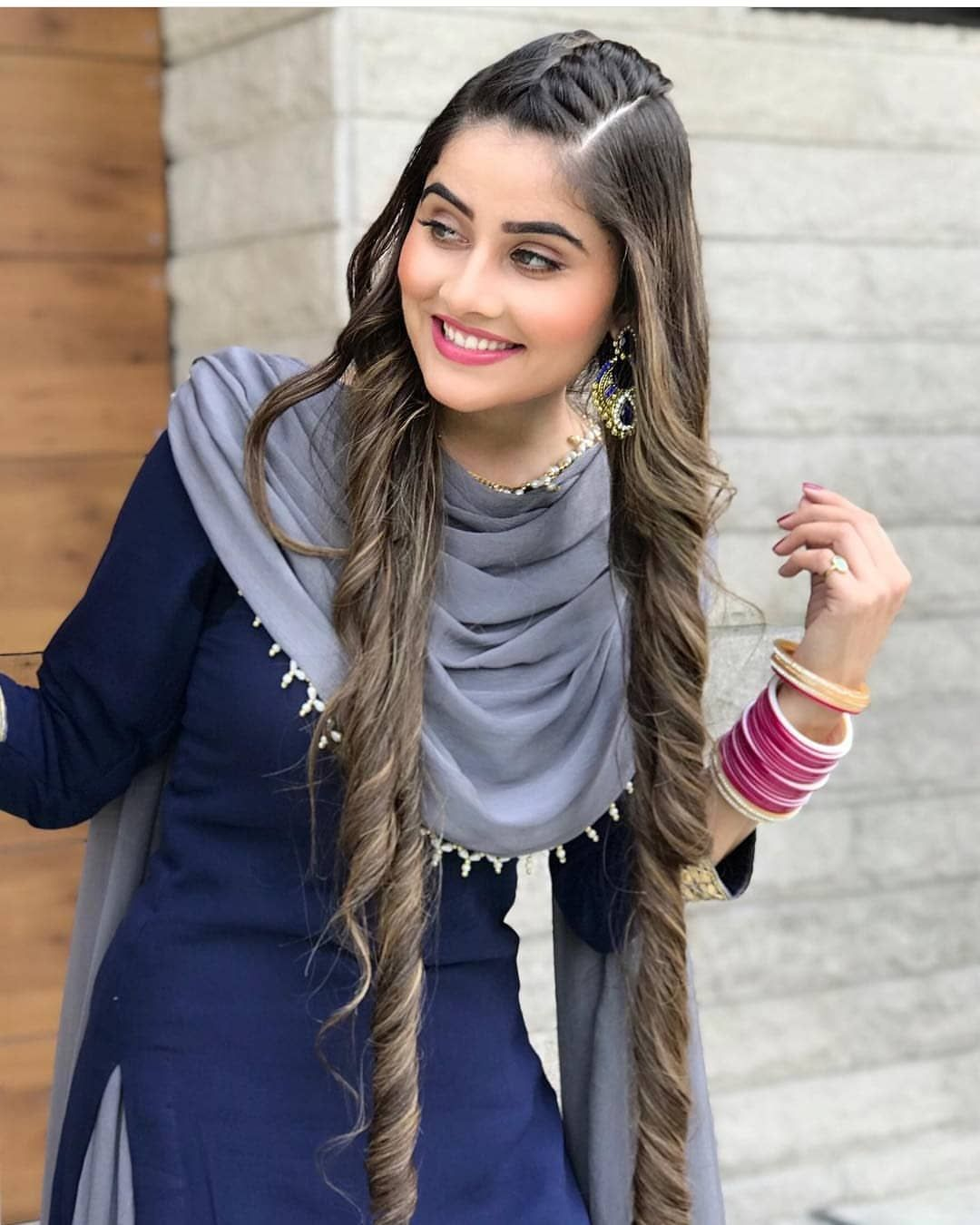 New The 10 Best Hairstyles With Pictures Ghumkanne Wall Prabhgrewalofficial Hair Hairstyle In Hairstyle With Suit Punjabi Models Stylish Girl Images