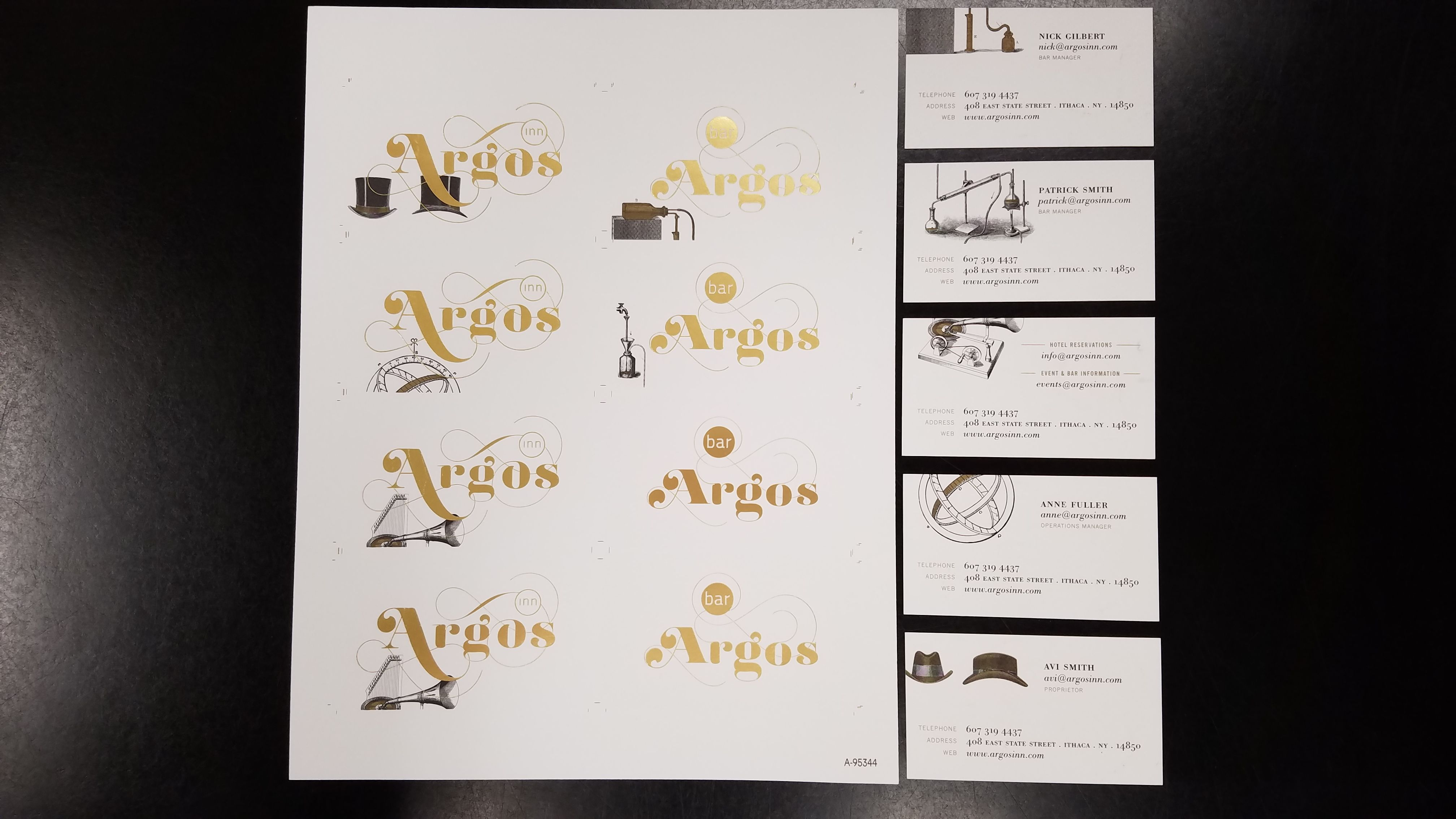 We Recently Printed And Foil Stamped Business Cards For Argos Inn They Came Out Great Foil Stamped Business Cards Stamped Business Cards Foil Stamping