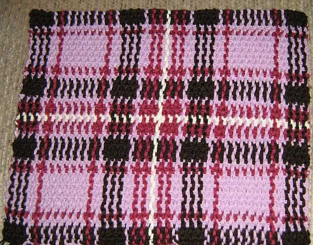Woven scotch plaid afghan (pattern) by American Thread Company ...