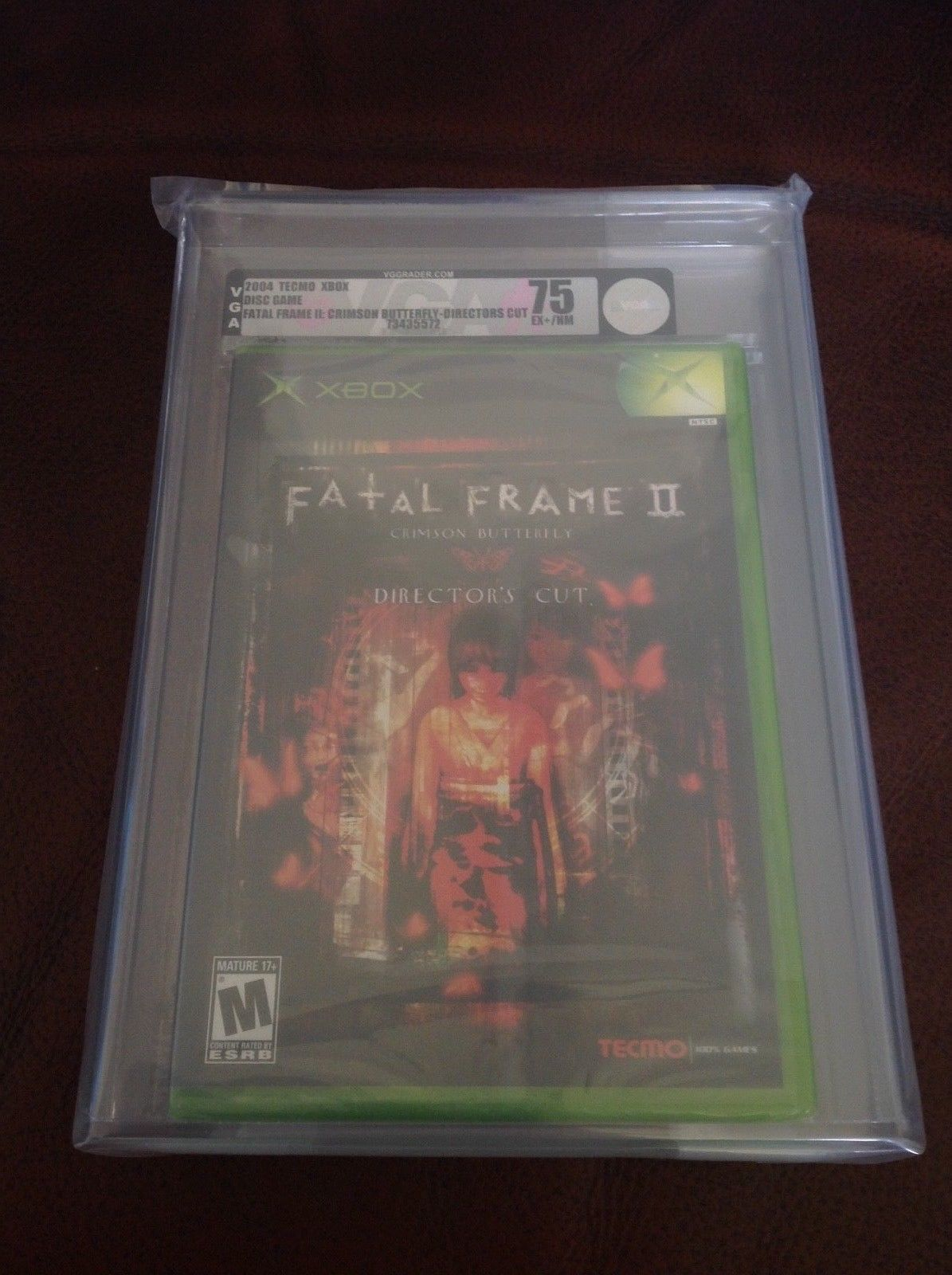 VGA 75 Ex+ / NM Xbox Fatal Frame 2 Crimson Butterfly 2004 New Sealed ...