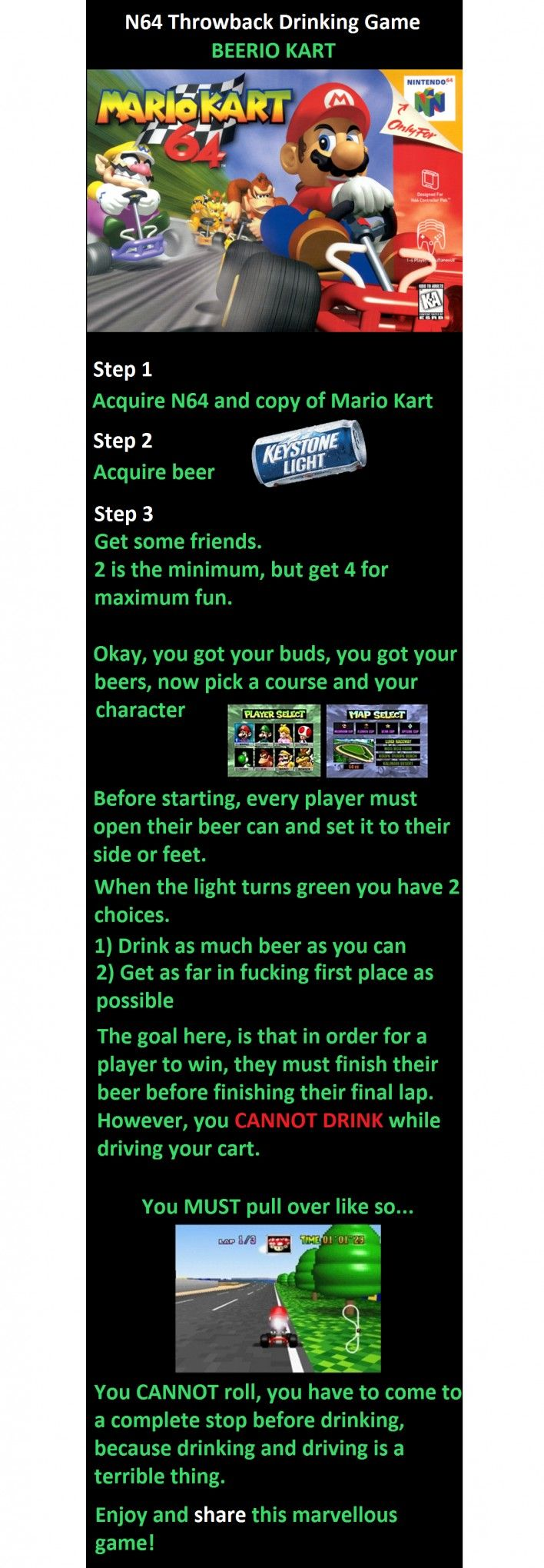 Pin By Claire Schellekens On Funny Shit Drinking Games Beerio Kart Mario Kart