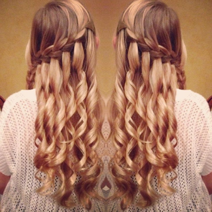First Semi Formal Hairdo Done By Me Amazingly Cute Semi Formal Hairstyles Formal Hairstyles Loose Curls Hairstyles