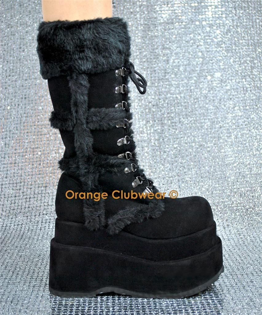 Super Cute Winter Goth Boots Didnt Know There Was Such A Thing Huh