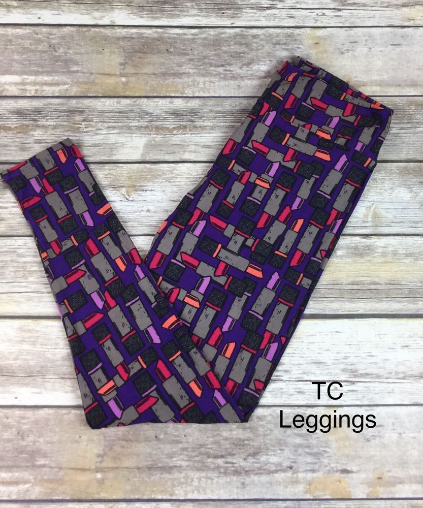 b8c204b15277aa LuLaRoe TC Tall/Curvy Leggings Purple Background Lipstick Print NWT  #fashion #clothing #shoes #accessories #womensclothing #leggings #ad (ebay  link)