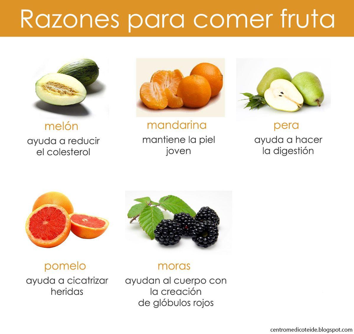 Beneficios de algunas frutas