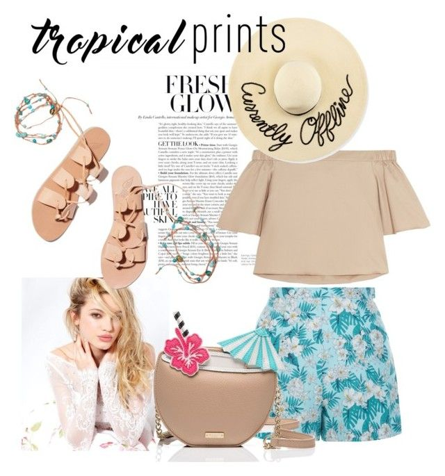 """I love the tropics "" by leavonn on Polyvore featuring New Look, TIBI, Eugenia Kim, Silvana, Ancient Greek Sandals and Kate Spade"