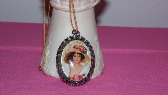 Vintage marcasite rhinestone victorian lady by FabulousFinds1, $19.99