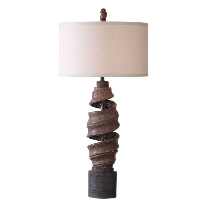 Uttermost 27541 1 Abrose Light 36 Inch Tall Table Lamp With Fabric Shade Rust Lamps