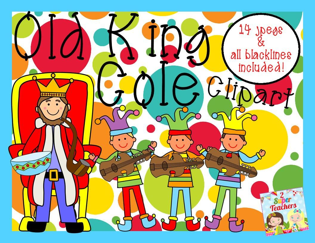 Old King Cole Clipart Pack: 14 jpegs & all blacklines included! 2 ...