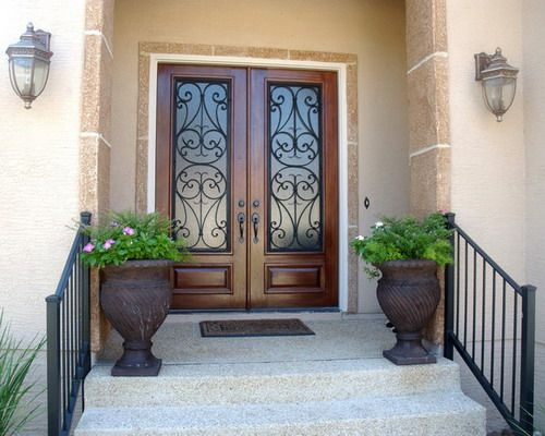 San Carlos Double Door Mediterranean Front Doors Decor Ideas