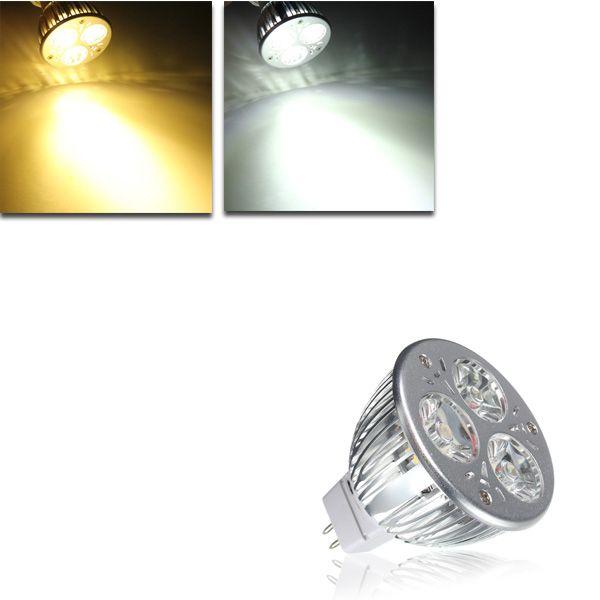 Mr16 4 5w White Warm White 3 Led Spotlight Led Light Bulb Dc 12v Led Lights Led Light Bulb Led Spotlight