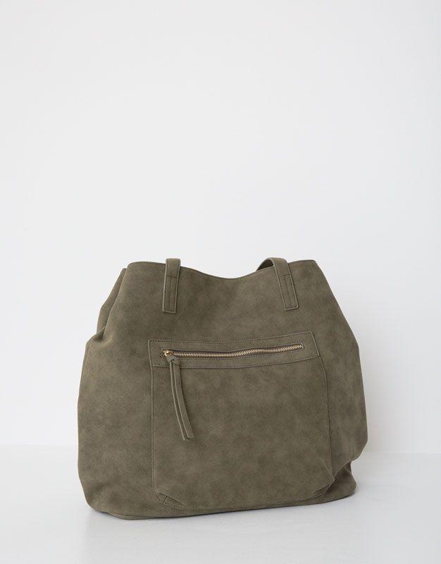 64f647c7b3e6 Sac shopper grande poche - Sacs - Accessoires - Femme - PULL BEAR France
