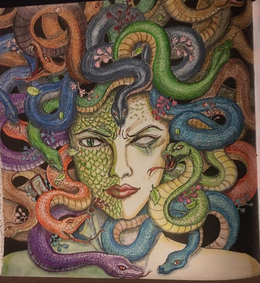 From Mythomorphia coloring book by Kerby Rosannes Adult