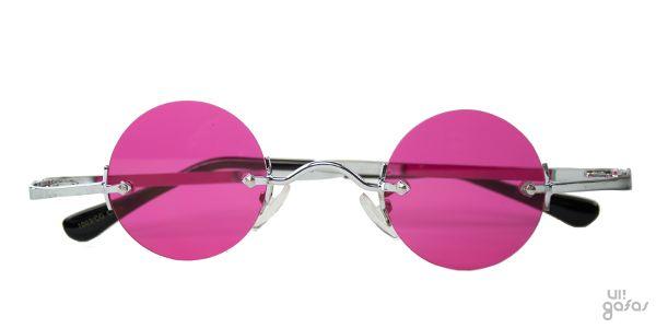 Óculos De Sol Redondo Mini Em Metal Lente Colorida    Ui! Gafas   Anime 15224f1f73