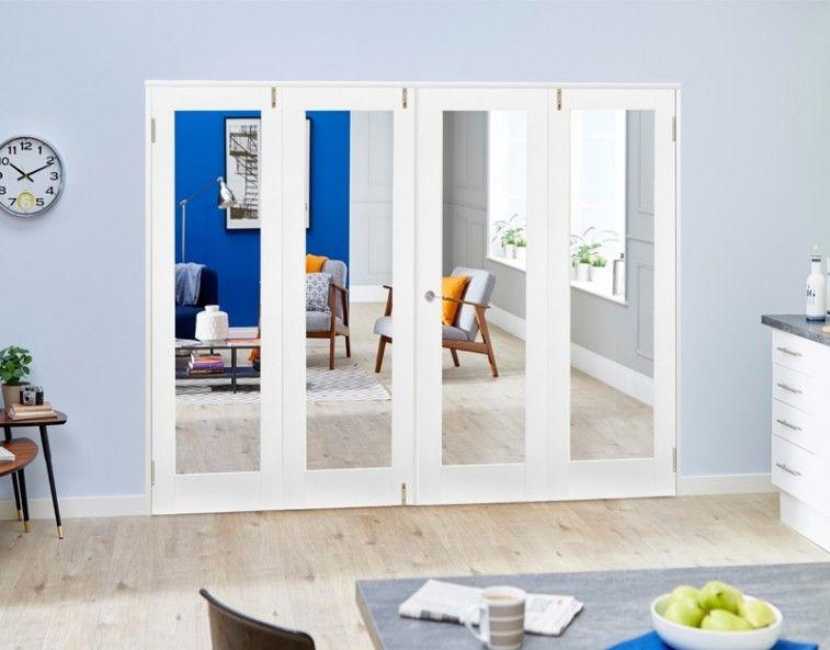 White P10 4 Door Frenchfold 4 X 533mm Doors Internal folding