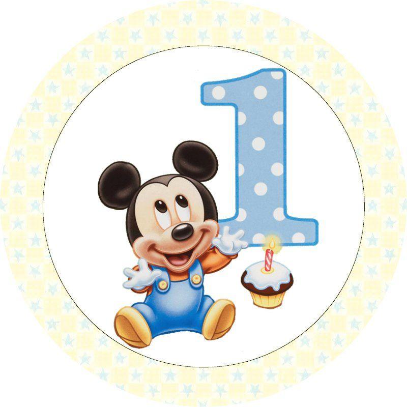 Mickey Baby - Kit Completo com molduras para convites, rótulos para ...