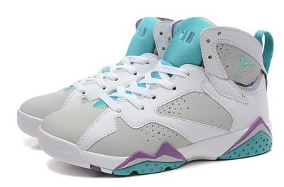 63a4ca1b201066 Jordan 7 White Blue Purple Sneakers For Sale