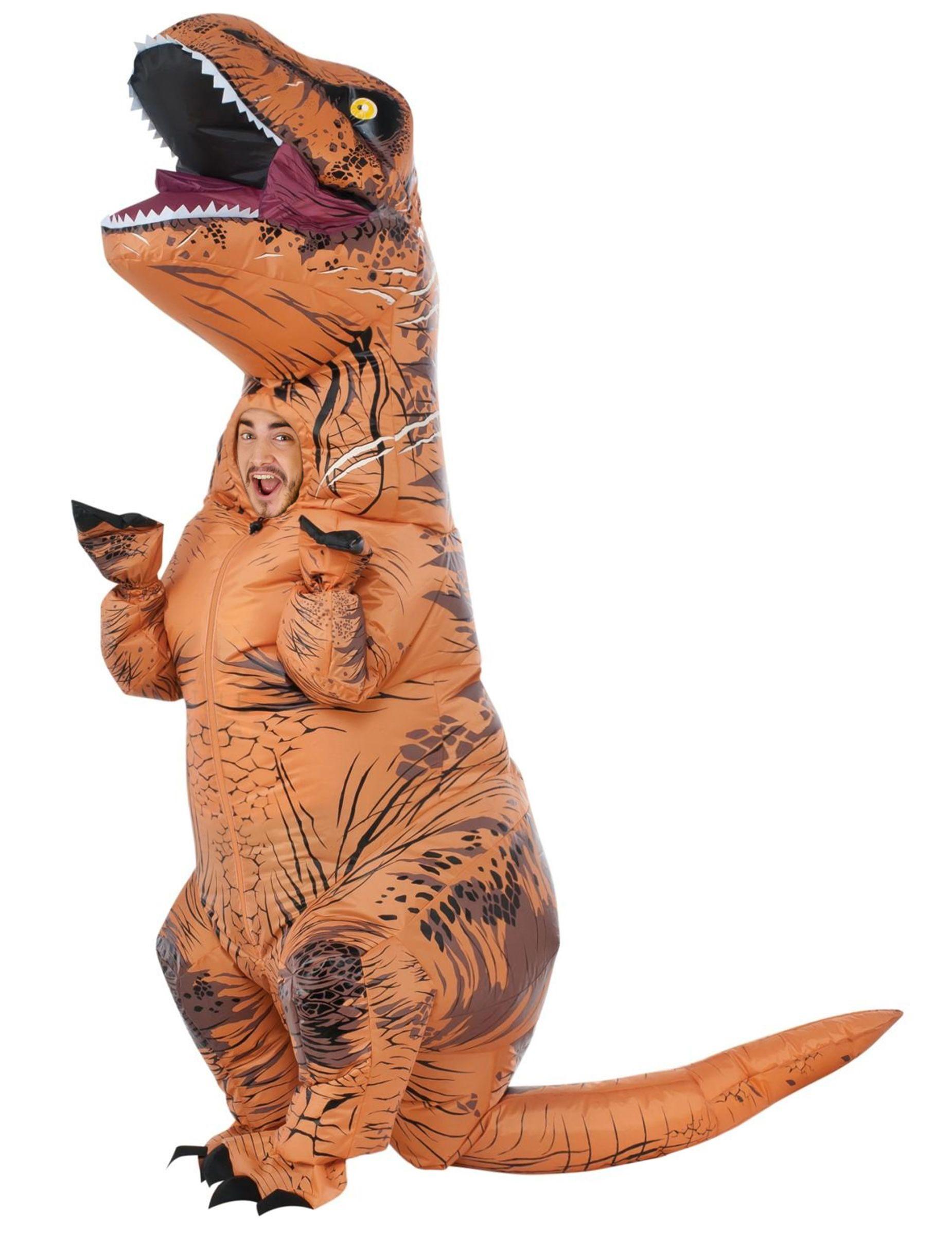 t rex kostume voksen oppustelig