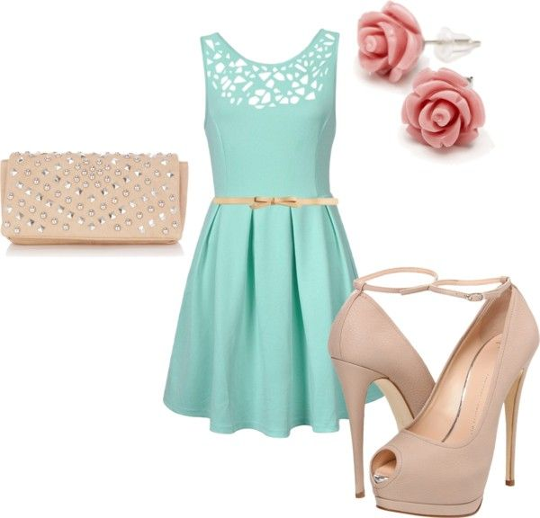 Wedding guest by caid805 on polyvore adorable want my for Teenage dresses for a wedding