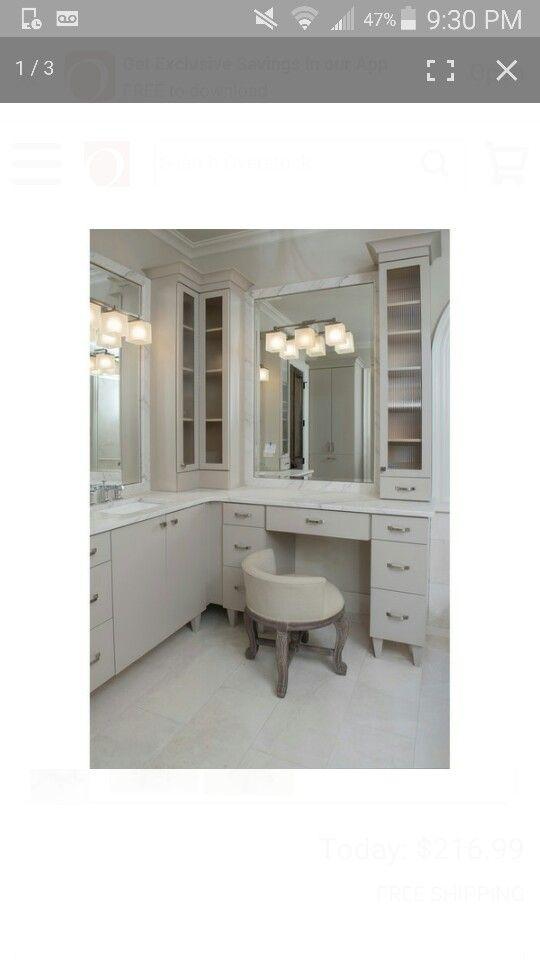 L Shaped Bathroom Vanity Vanitychair Tocador De Bano Principal