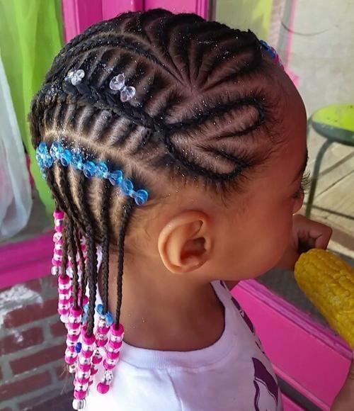 fancy braided hairstyle for little black girls - Braids For Kids – 40 Splendid Braid Styles For Girls Best Fancy