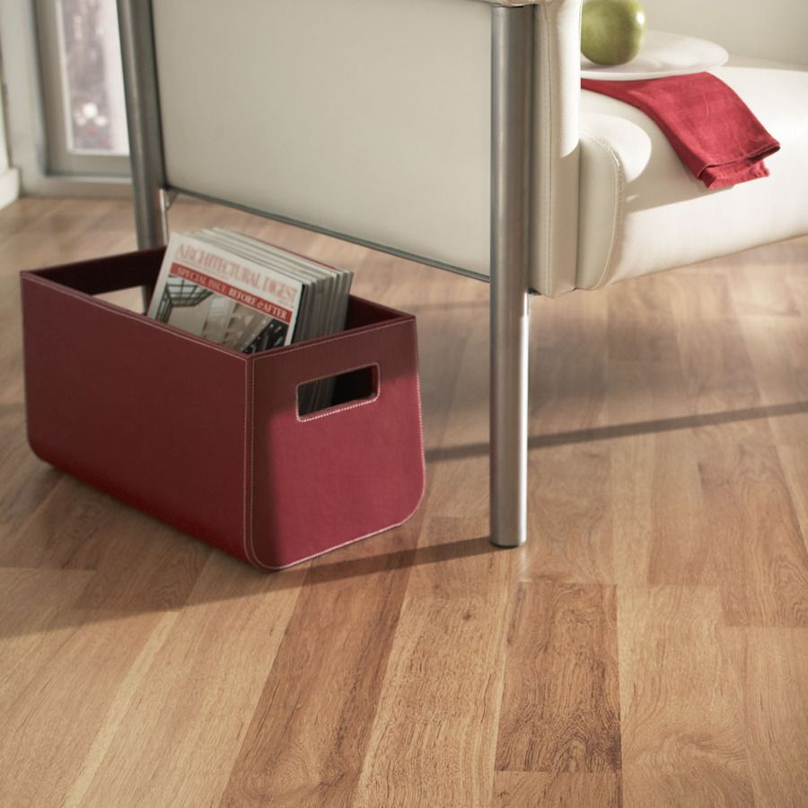 Style Selections W X L Ginger Hickory Smooth Wood Plank Laminate Flooring