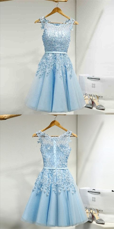 kurz blau spitze t ll cocktailkleid abiballkleid partykleid prom dresses pinterest mode. Black Bedroom Furniture Sets. Home Design Ideas