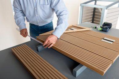 m lltonnenbox selber bauen arbeitsschritt deckeldielen befestigen haus pinterest m ll. Black Bedroom Furniture Sets. Home Design Ideas