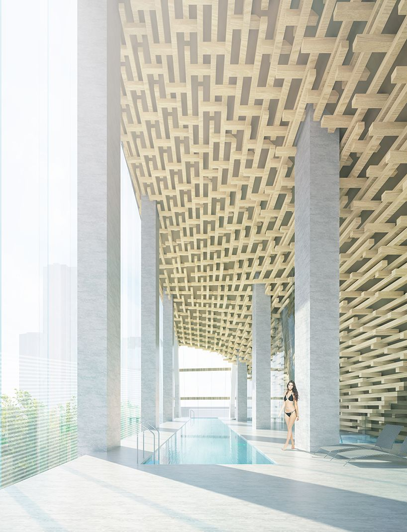 Designboom talks to kengo kuma about his first residential tower in north america also best home model images architecture models concept rh pinterest