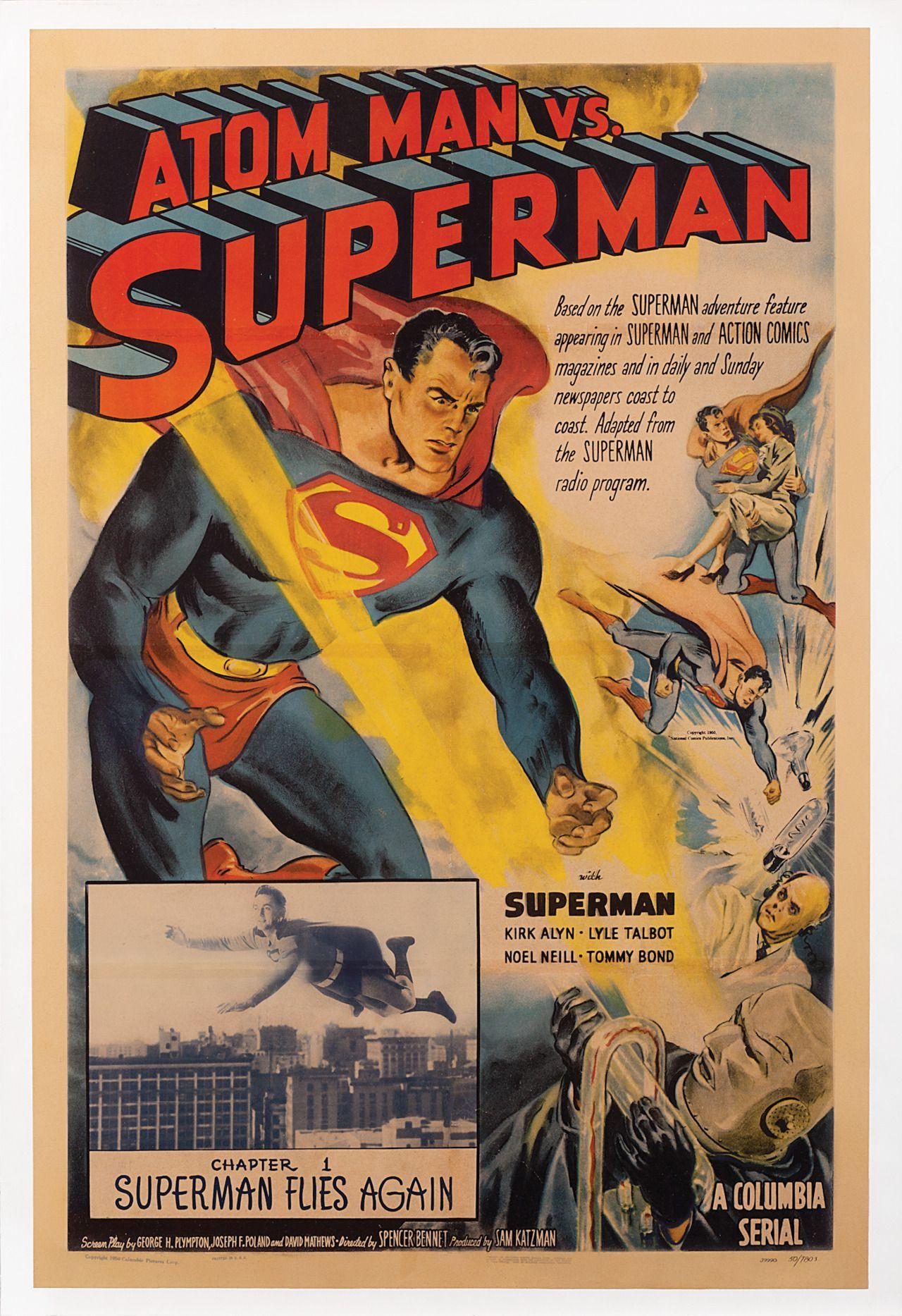 Atom Man vs Superman poster