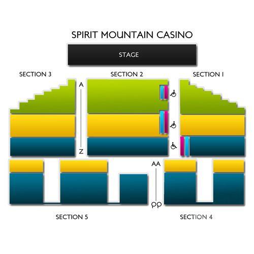 Spirit mountain casino seating map boulevard casino hotel