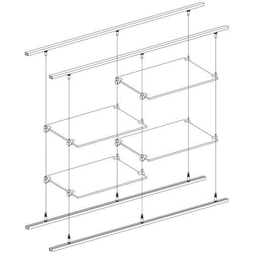 Hanging Gl Shelves From Ceiling Suspended Shelf