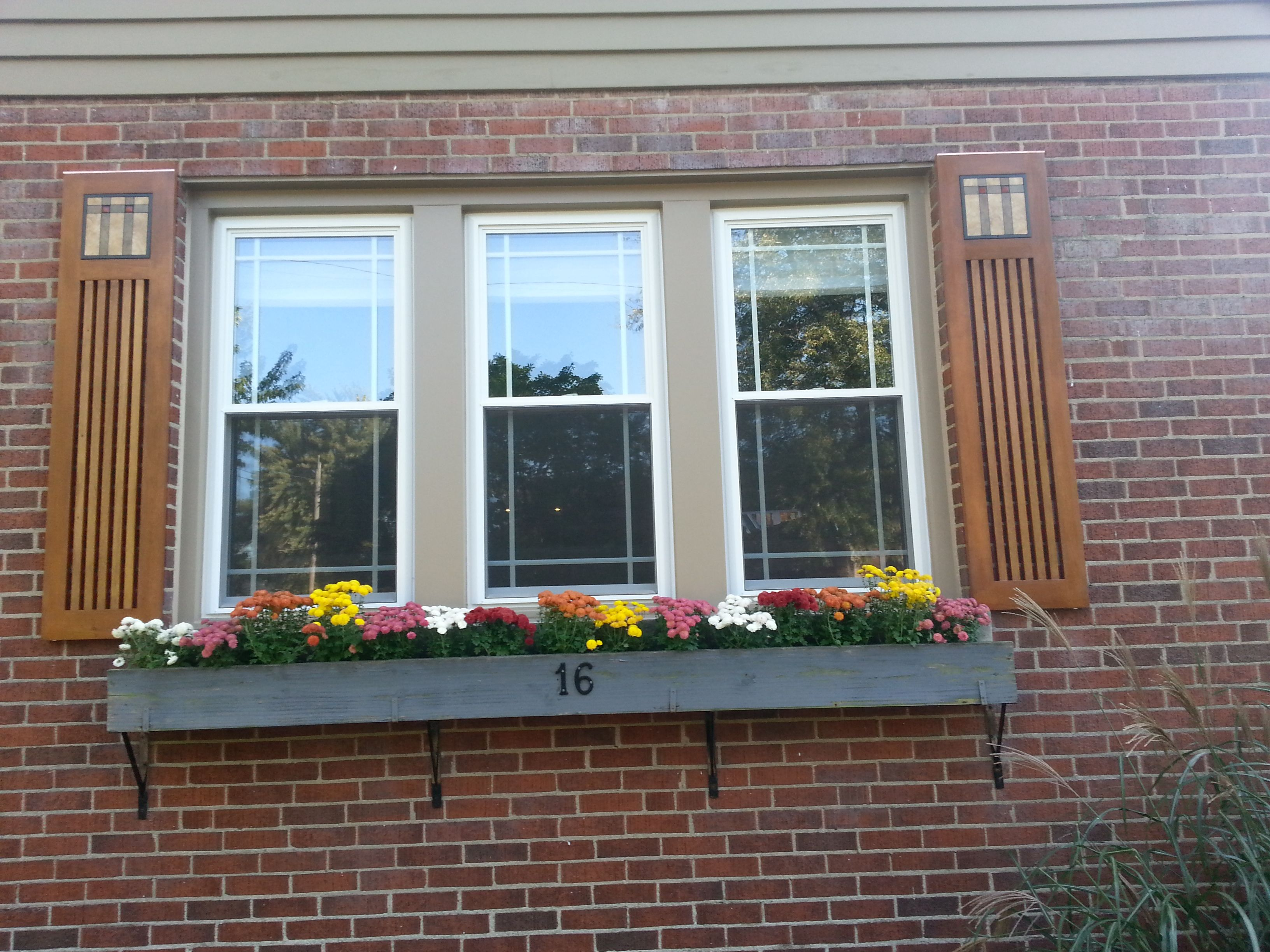 Amazing mission style shutters with arts and crafts tile mission