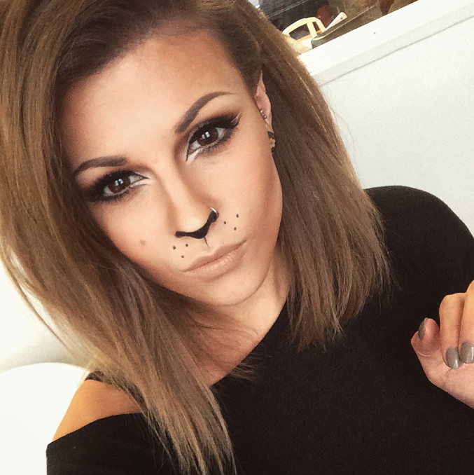 how to lion cat makeup beauty and the dirt ... | boo | Pinterest ...
