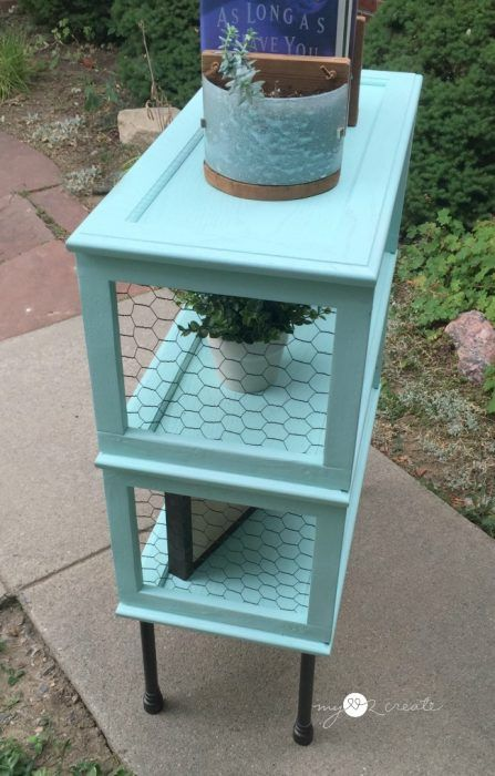 View Of Chicken Wire Sides Bookshelf Cabinet Door Crafts Diy Doors Kitchen