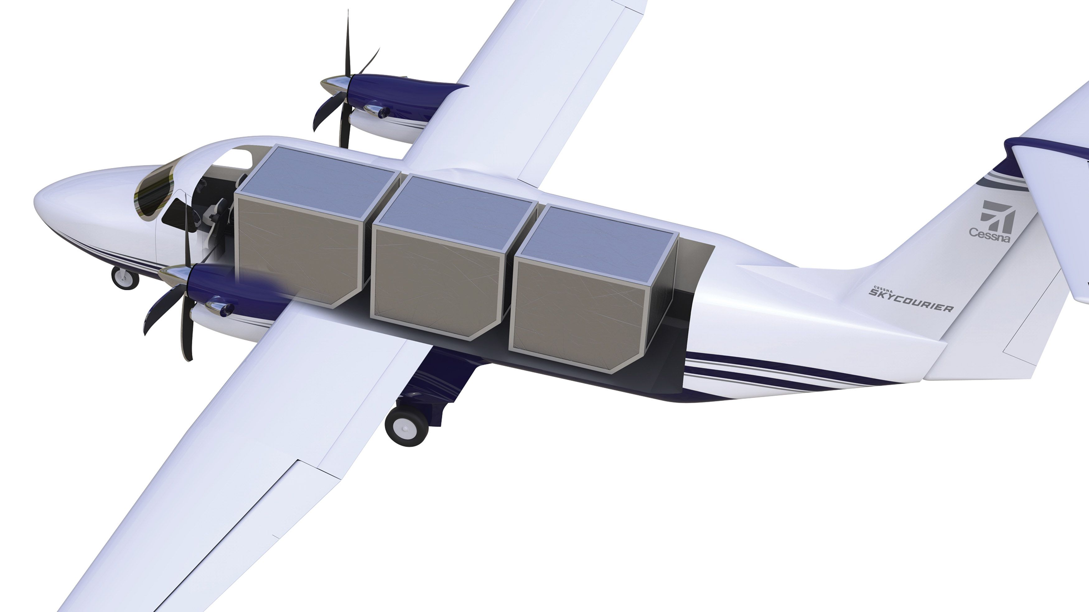 The Cessna SkyCourier 408 is a high-wing, twin-engine, turboprop