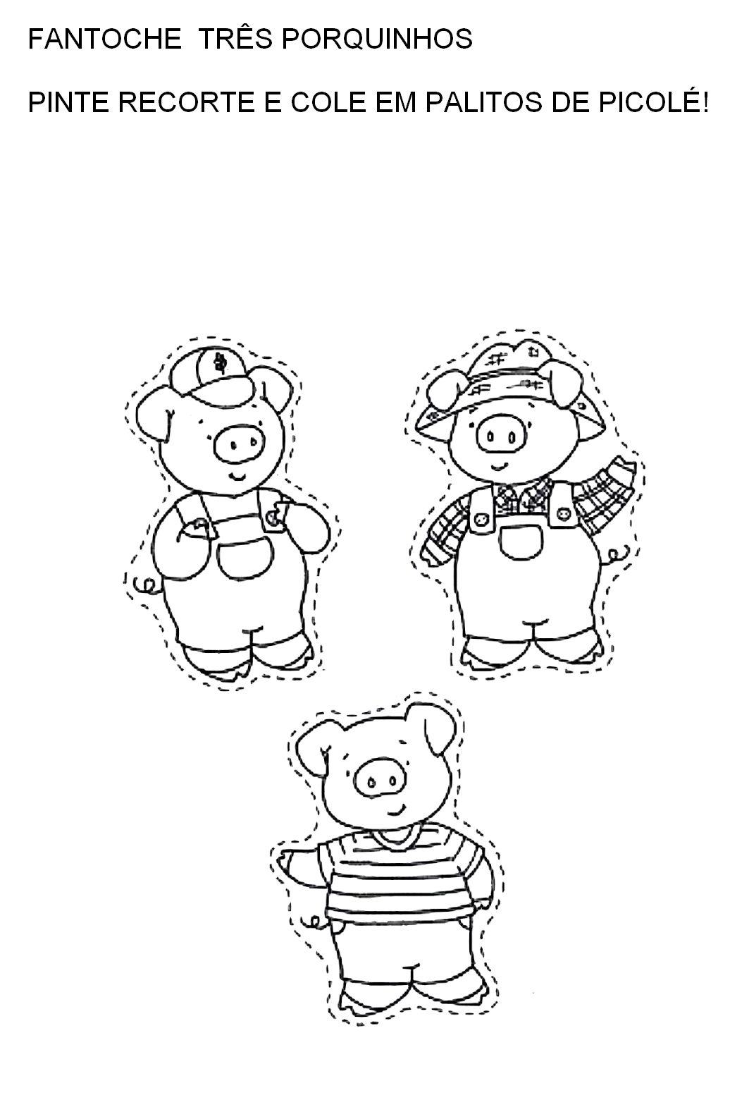 Espaco Infantil Dedoches E Fantoches Tres Porquinhos Dedoches E