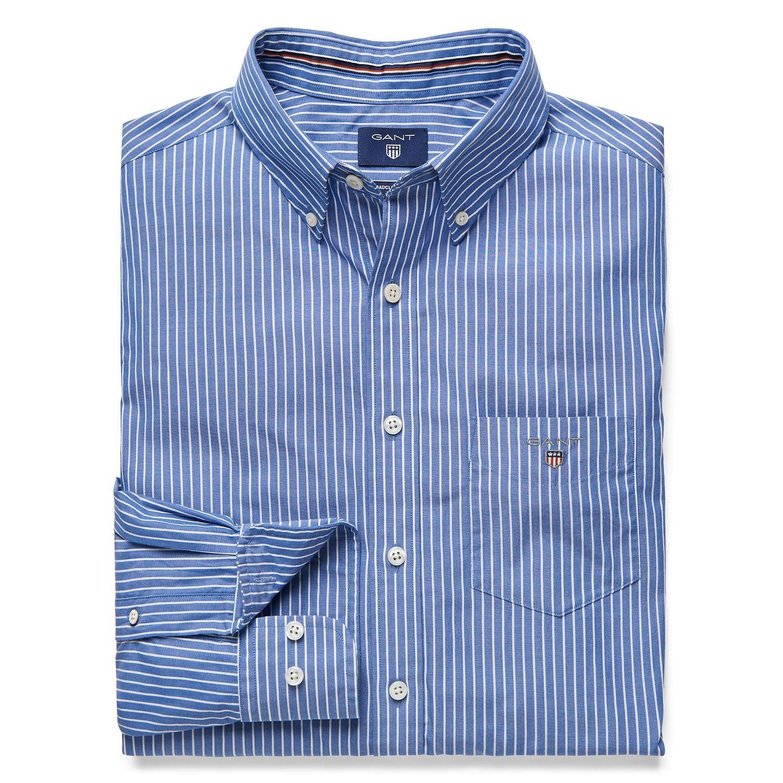 GANT Men/'s The Broadcloth Slim Shirt Blue