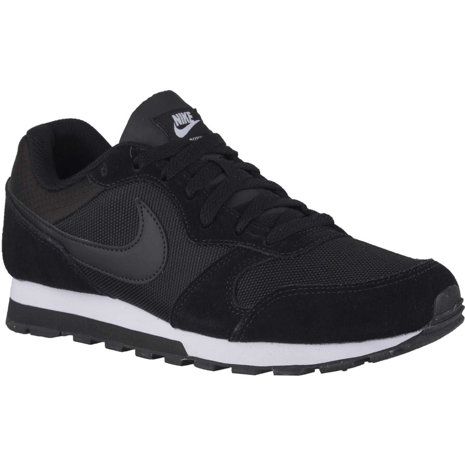 zapatillas nike md runner 2 negro blanco