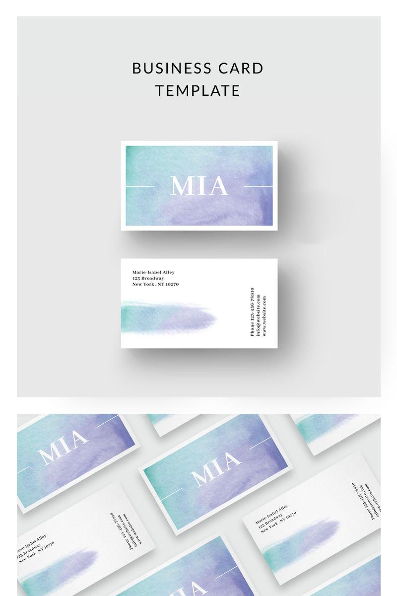 Purple Watercolor Business Card Corporate Identity Template 75915