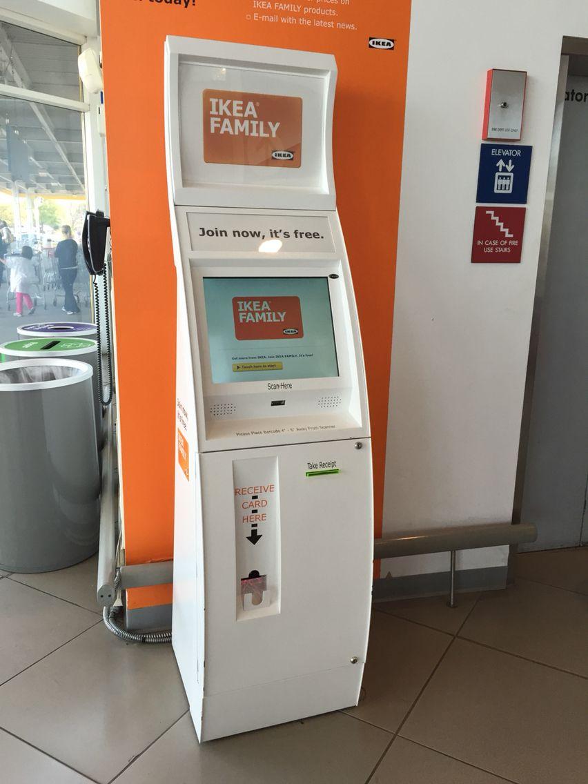 Ikea Family Registration Kiosk It Dispenses Cards For Newly