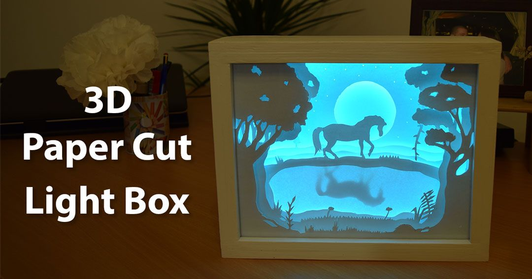 Lighting Basement Washroom Stairs: In This Video I'll Show You How I Made This 3D Paper Cut