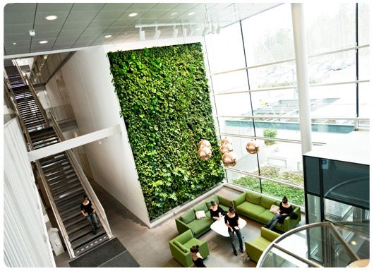 vertical garden lobby W 123051 Pinterest Gardens Offices