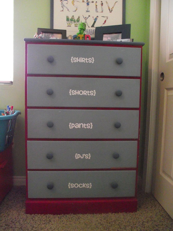 Vinyl Labels For Children S Dressers Free Shipping 10 00 Via Etsy