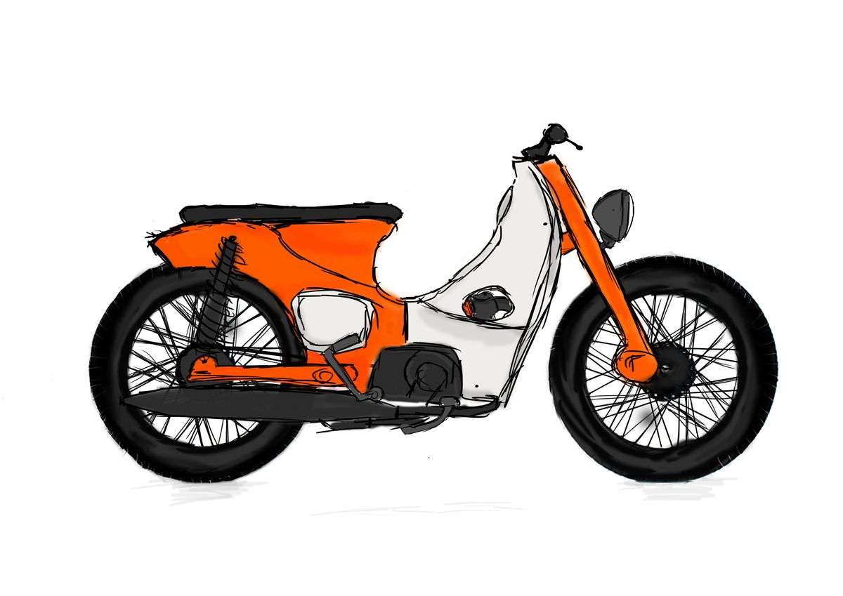 original design of my honda c100 honda cub super cub