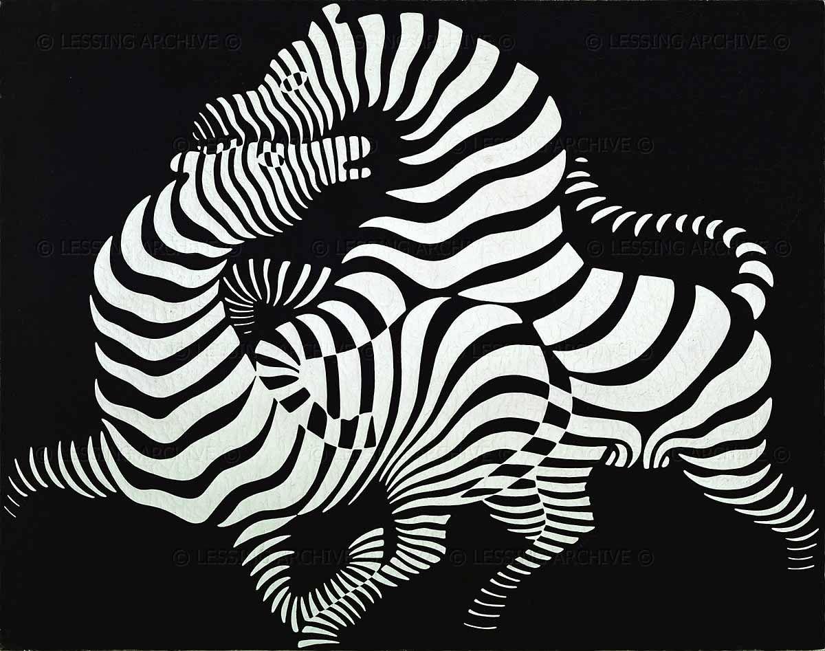 Zebras victor vasarely oil on canvas 1950 92 x 116 cm art zebras victor vasarely oil on canvas 1950 92 x 116 cm thecheapjerseys Gallery
