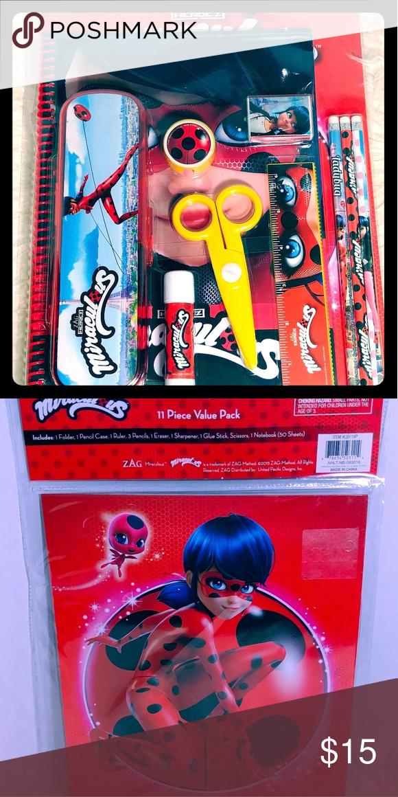 Miraculous Ladybug 11pc Value Pack Miraculous Ladybug Ladybug Office Pencil
