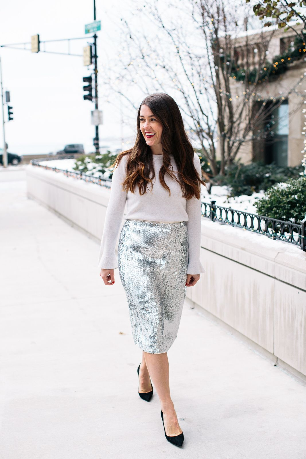 Sequins for the Holidays - Holiday Outfit Ideas - Sequins   Stripes ... 737f6aecd