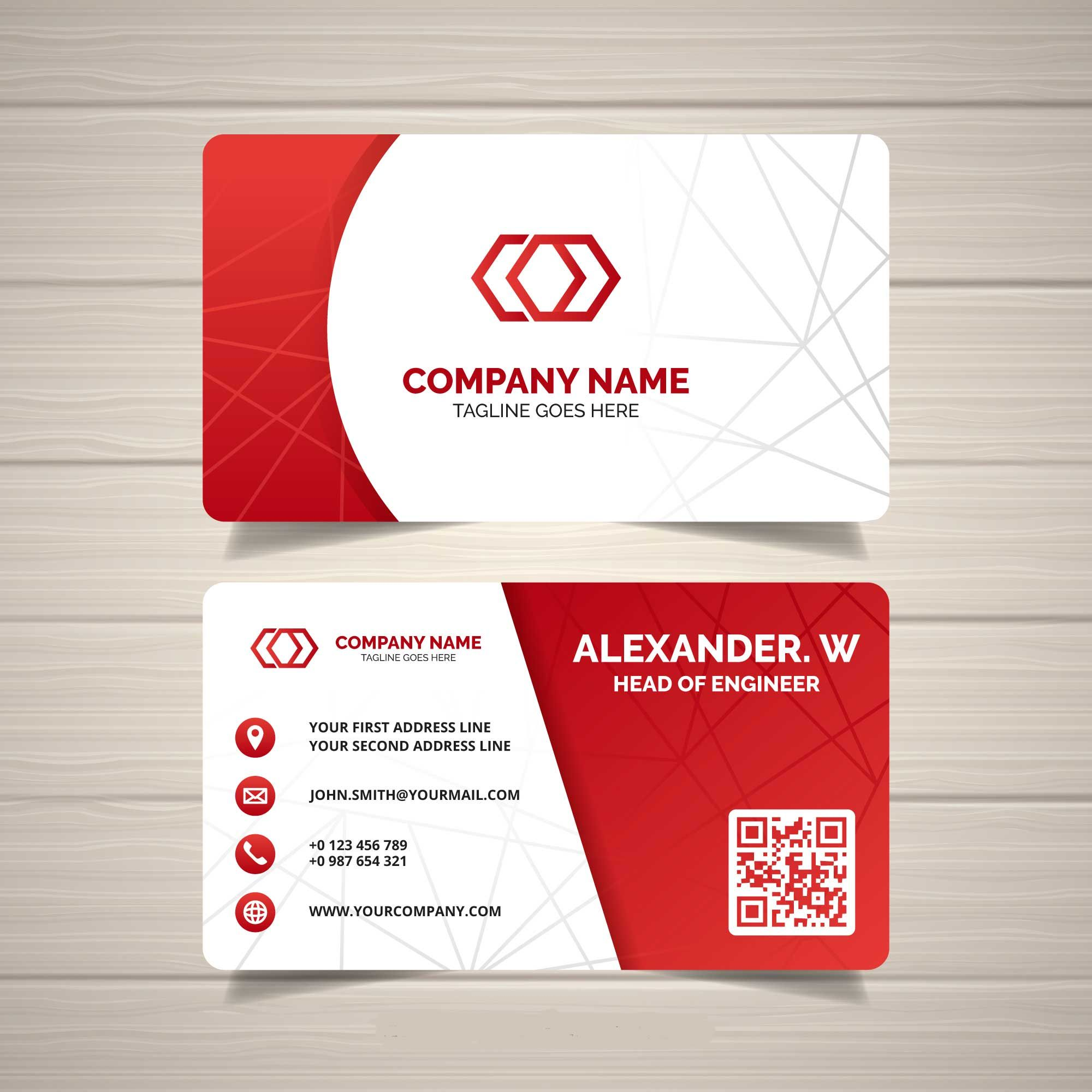 Red Corporate Business card Templates BC5  Company business